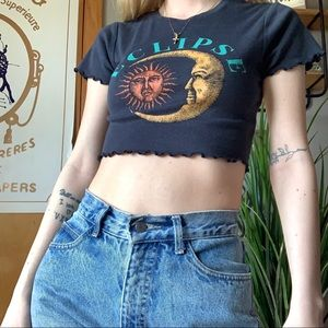 NWOT urban outfitters eclipse crop top